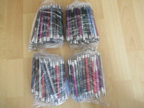 Schreibfarbe schwarz 50 neue Paragon Kugelschreiber mit Werbeaufdruck
