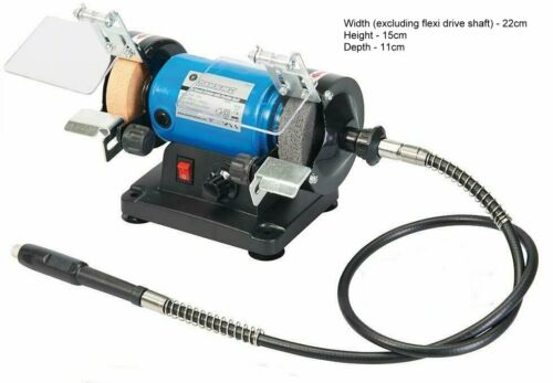 120W Mini Bench Grinder With 150 Pce Metal Polishing Sanding Grinding Kit