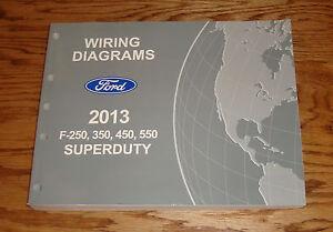 Original 2013 Ford F-250 350 450 550 Super Duty Wiring ...