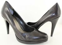 Nine West Rocha Womens Black Leather Platform Classic Pumps Heels Size 10