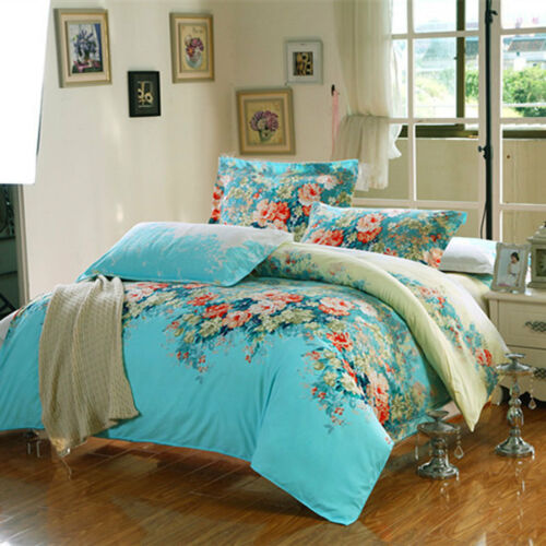 Queen Size 1 Duvet Cover /& 2 Pillowcases Cotton Blend Bedding Set 37 Designs