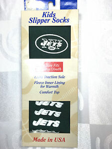 927fc882 Details about N.Y JETS NFL KIDS SLIPPER SOCKS UNISEX ONE SIZE FITS ALL MOST  TEAMS