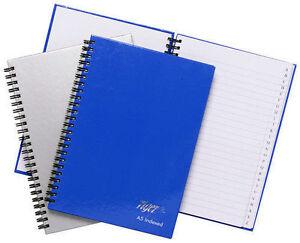 A5 RULED LINED HARDBACK NOTEBOOK 360 SHEET FEINT NOTE BOOK HARD BACK NOTEPAD PAD