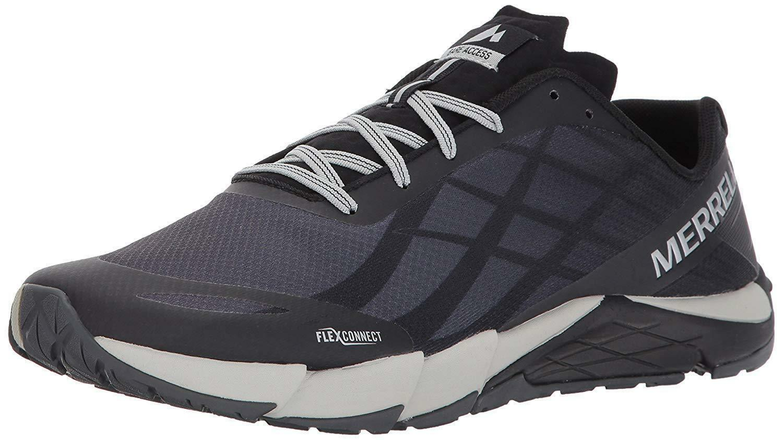 Merrell Para Hombre Bare Flex Trail Runner J09657, Access Negro Plata EE. UU. nuevo