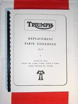 Parts Book Triumph T100R Daytona /& T100C Trophy 1972