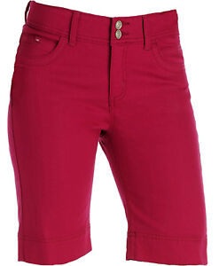 NWT Lee Slender Secret Rose Red Bermuda Shorts, Women's ...