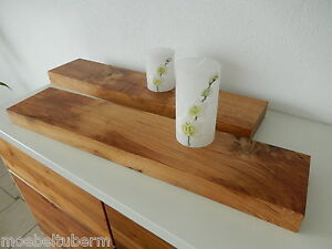 2xwandboard eiche wild rustikal massiv holz board regal steckboard regalbrett ebay. Black Bedroom Furniture Sets. Home Design Ideas