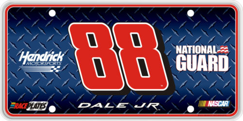 #88 Dale Earnhardt Jr National Guard Souvenir License Plate RS8810D