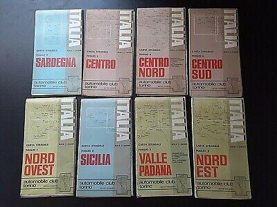 Cartina Stradale Sardegna Nord Ovest.Lotto 8 Cartine Italia Carta Stradale Automobile Club Torino Anni 70 Ebay