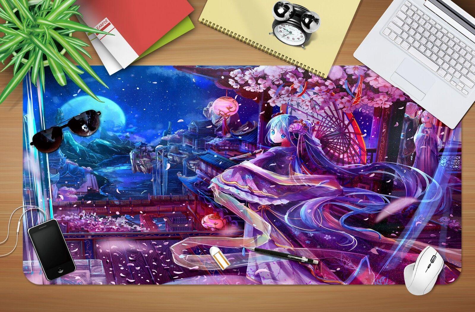 3D Hatsune Miku Virtual 7 Japan Anime Rutschfest Büro Schreibtisch Matte Spiel