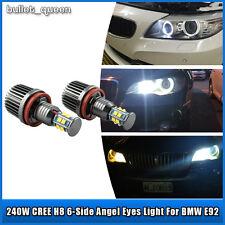 2X 120W Super White BMW H8 LED Angel Eyes Ring Marker Bulbs For 1 3 5 Series E92