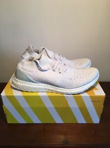 competitive price a1d96 94007 Details about Adidas Parley Uncaged Ultra Boost Size 9 BB4073 White Grey  Light Blue 1.0 2.0