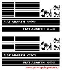 Adesivi Decalcomanie Fiat Abarth 595/695 con scorpioni d'epoca.fiat 500