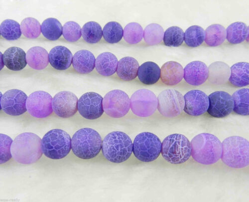 6mm 8mm 10mm Pretty Dream Fire Dragon Veins Agate Round Gems Loose Beads 15/'/'