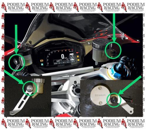 2PCS DUCATI 1198 SILVER TITANIUM BRAKE /& CLUTCH RESERVOIR BOLTS