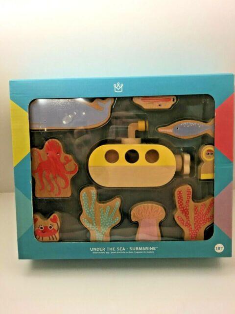 Manhattan Toy Co Under The Sea Submarine 18M+ NEW Wood Toy Activity Set