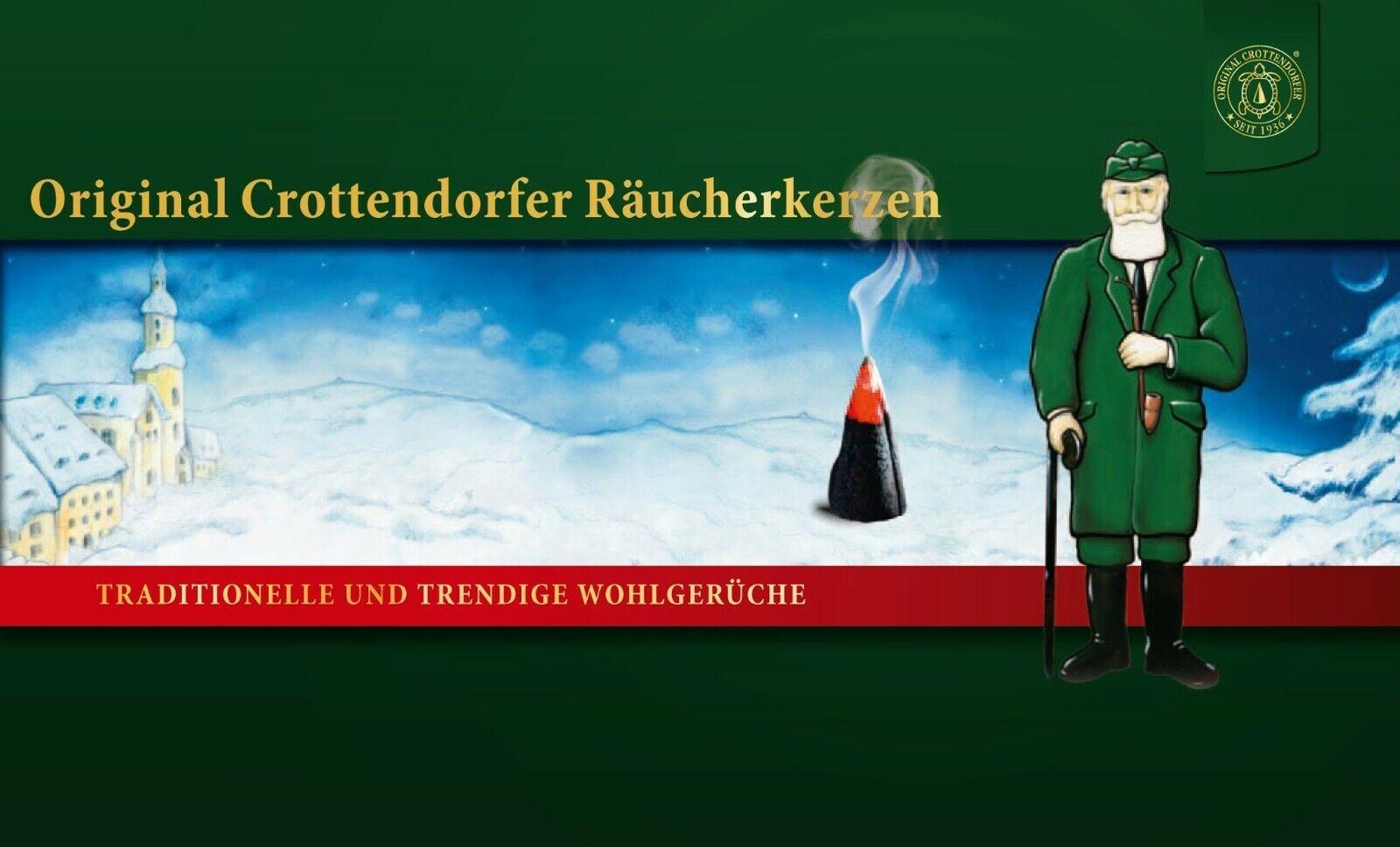 Original Crottendorfer Räucherkerzen Weihnachtsdüfte Display 12 verschiedene Sor