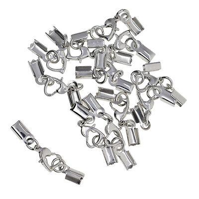 24 PCS Lobster Crimp Cord Ends Connectors End Beads DIY Bracelet Necklace