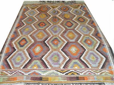 "Rugs & Carpets Just Turkish Antique Pastel Vintage Oushak Pastel Carpet Rug Kilim 8' 4"" X 5'11"" Wide Selection;"