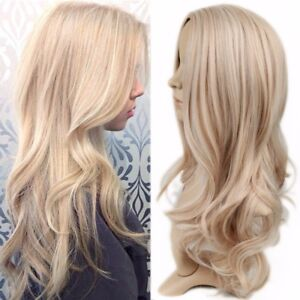 Image Is Loading Natural Wavy Two Tone Ombre Light Ash Blonde  Amazing Design