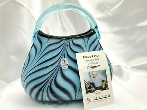 Fenton-Dave-Fetty-Ltd-Ed-Feathered-Purse-Unique-Gorgeous-Lines-FREE-SHIPPING