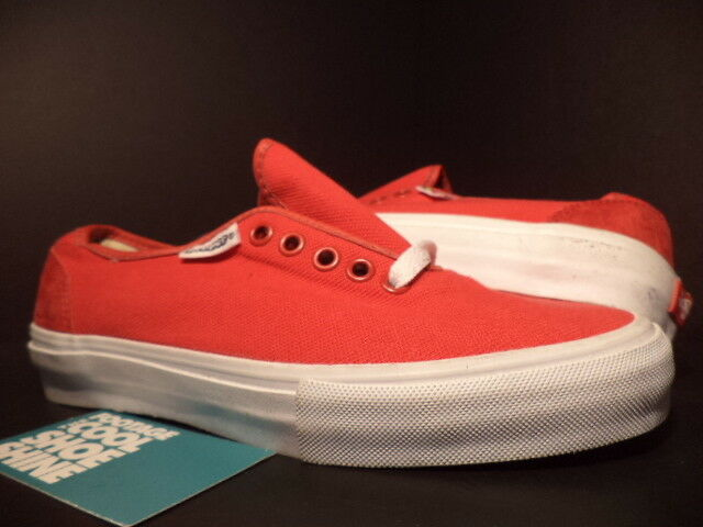 Vans AUTHENTIC PROPER LONG BEACH NATIVE AMERICAN RED WHITE NEW 11