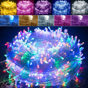 30m 50m 100m Battery Electric String Fairy Lights Multi
