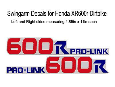 Honda XR600R Decals Graphics Swingarm Stickers MX Dirtbike xr600 xr 600 600R