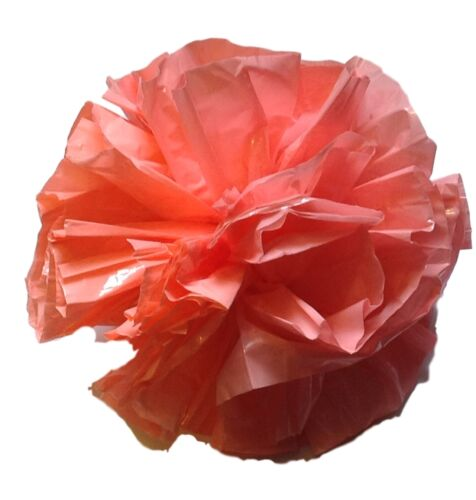 coral 25 Car Limo wedding Decoration Plastic Pom Poms Flower 4/""