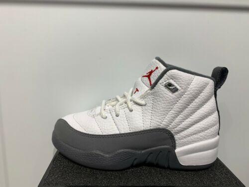 Nike Air Jordan 12 Retro XII White Dark Grey GS PS TD Baby Women Kids Size 4C-7Y