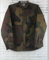 Burton Mens Mystic Wool Snowboard Jacket Medium Mountain Camo