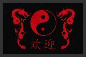 Rockbites-Doormat-034-Dragon-Yin-Yang-034-Black-Red-Nr-149-100669-Doormat