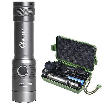 2300 Lumen CREE XM-L T6 LED Zoomable Flashlight Torch Lamp Light  +18650 Battery