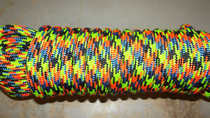 """NEW 11.7mm (15/32"""") x 63' Kernmantle Static Line, Climbing Rope"""