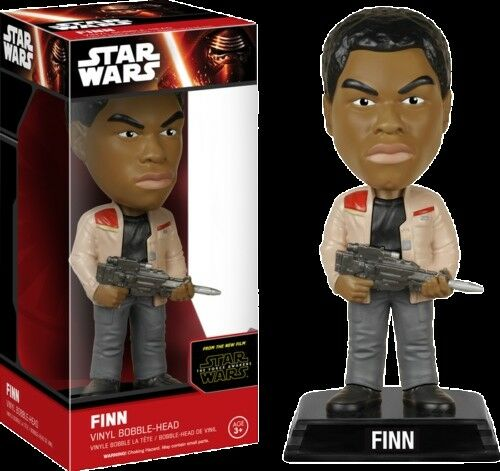 NEW Star Wars The Force Awakens Finn Vinyl Bobble Head Wacky Wobbler Funko
