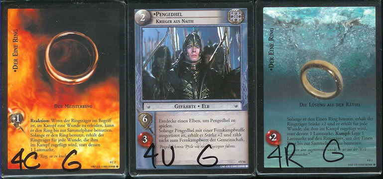 LOTR CCG CCG CCG TCG The Two Towers Set GERMAN 1021df