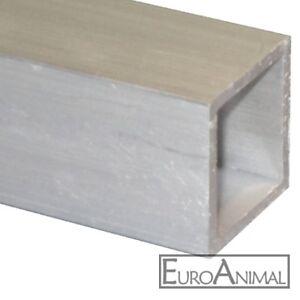 Aluminium Quadratrohr 20mm 25mm 30mm 35mm 40mm 50mm 60mm Alu