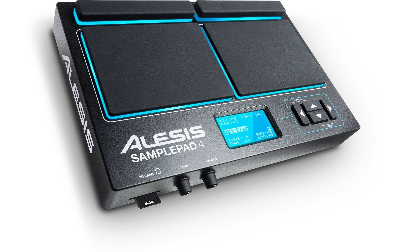 Alesis SamplePad 4 Compact 4-Pad Percussion and Sample-Triggering Instrument