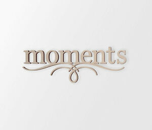 MOMENTS Wall Decor Word - Cutout, Home Decor, Unfinished