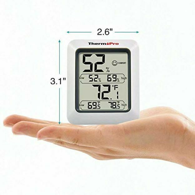 ThermoPro TP50NEW Large LCD Digital Thermo-hygrometer, Indoor Weather Hygrometer