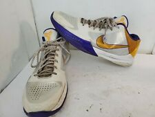 ec146829f3e5 item 3 Nike Zoom Kobe V 5 Home Sz 13 White Del Sol Purple Yellow 386429-102  Lakers -Nike Zoom Kobe V 5 Home Sz 13 White Del Sol Purple Yellow  386429-102 ...