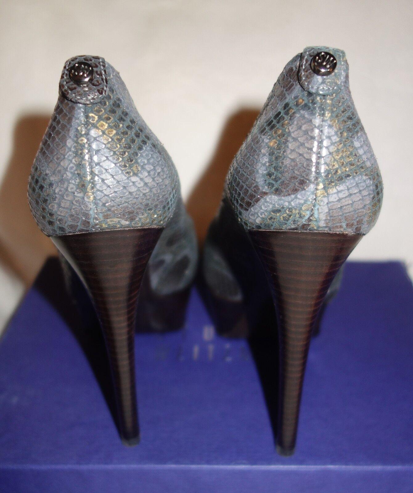 Stuart Weitzman 'Lille' 'Lille' 'Lille' Genuine Leather Pumps platform snake sz 39 US 8.5 new 637423