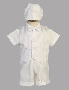 New Baby Toddlers Boys White 5 Pc Set Suit Outfit Christening Baptism Richard