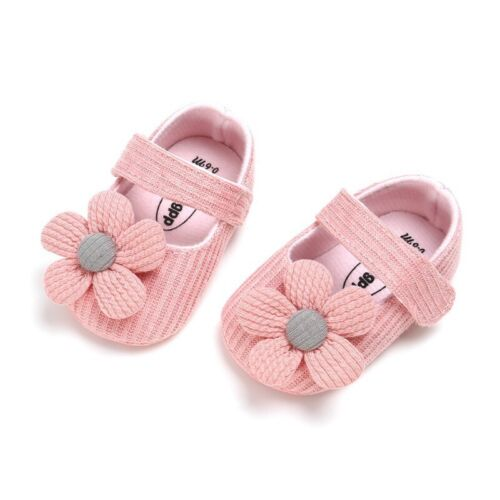Baby Kids Girl First Walkers Casual Shoes Flower Sneakers Soft Walking Shoes