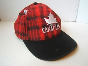 Image is loading Distressed-Molson-Canadian-Beer-Hat-Damaged-Red-Plaid- e4ff6e8006e