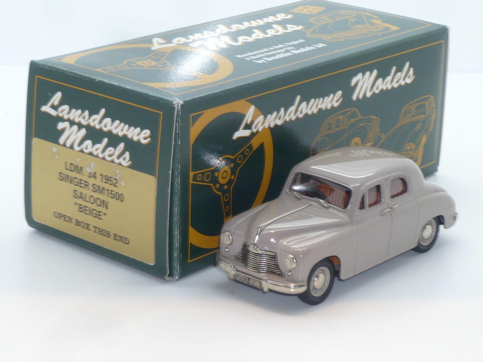 Nuevo 1 43 Lansdowne Modelos LDM34 1952 cantante SM1500 Saloon HANDBUILT Brooklin