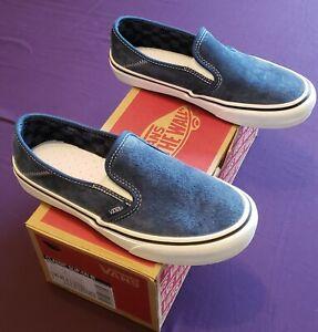 Vans Slip On Old Skool Suede Blue Size 7 Mens 8 5 Women Visit Our Ebay Store Ebay