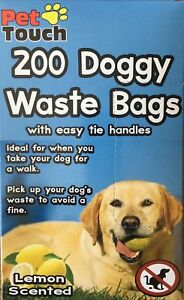 Symbole De La Marque 200 Parfumée Doggy Déchets Sac Avec Easy Cravate Poignées-afficher Le Titre D'origine