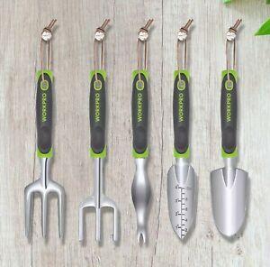 Work Pro 5 Piece Garden Tool Set Ergonomic Designed Handles Cast Aluminum