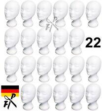 22 x Styroporkopf Perückenkopf Dekokopf - TOP Qualität aus deutscher Herstellung